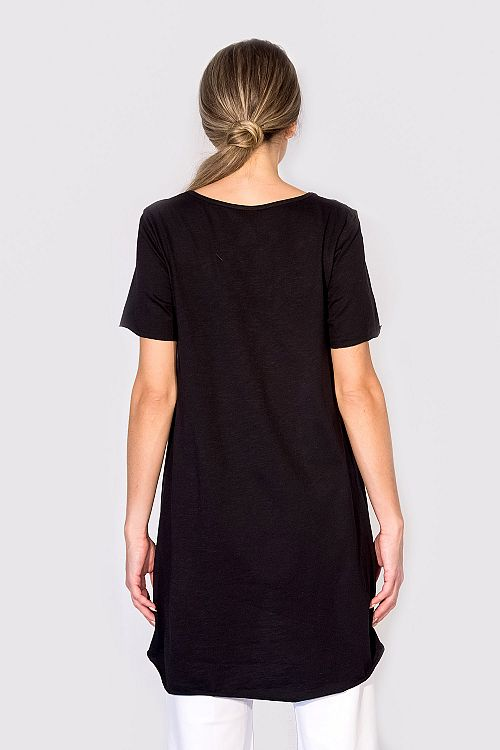 ASYMMETRICAL A-LINE LONG TOP