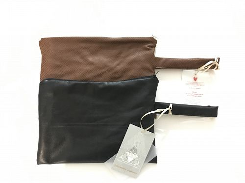 ECO LEATHER POUCHES