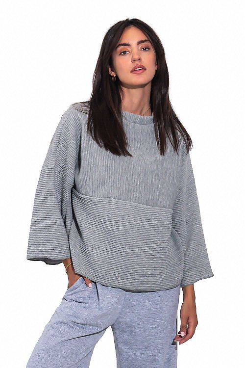 SOFT SWEATER WITH RUFFLES