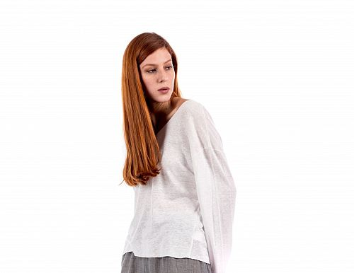 LINEN KNIT OVERSIZED  SWEATER